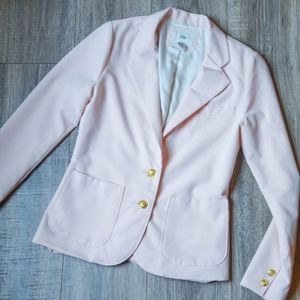 Baby pink Blazer with gold button detail